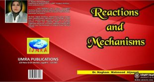 Issuance of a Scientific Book Entitled (Reactions and Mechanisms)