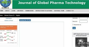 Two lecturer Publish a Scientific Paper in Journal of Global Pharma Technology