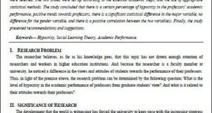 تدريسي ينشر بحث علمي في إحدى المجلات العالمية
