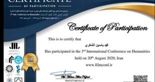 A teacher participates in a scientific conference at an international university