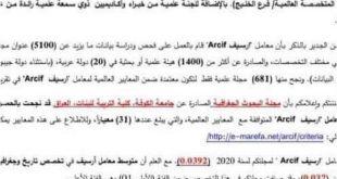 مجلة البحوث الجغرافية تحصل على معامل تأثير عربي
