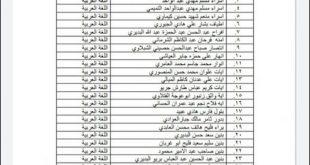 قبول طالبات في قسم اللغة العربية للعام الدراسي 2020 – 2021